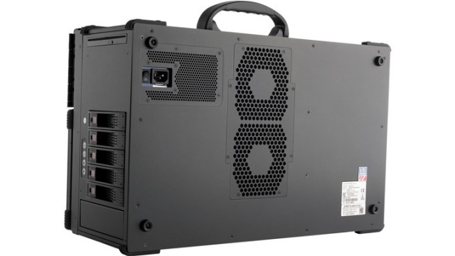 MegaPAC L1 Portable Workstation i7 Dual Xeon Rear thumbnail